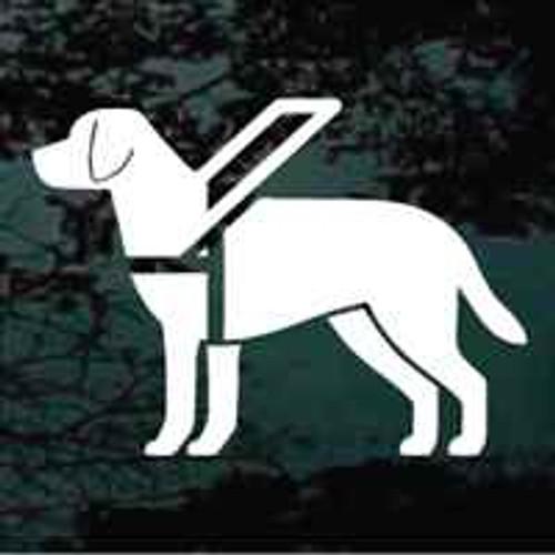Solid Labrador Retriever Service Dog Window Decal