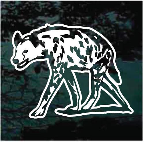 Crouched Hyena Window Decals