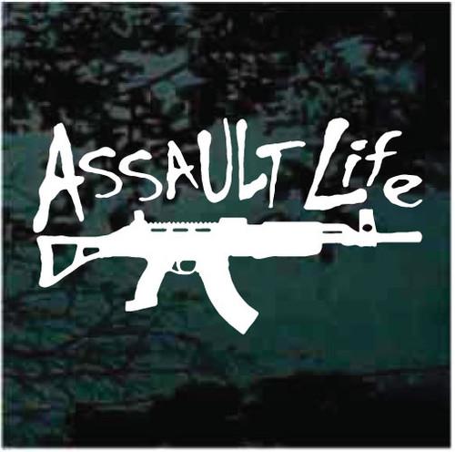 Assault Life Window Decals Design
