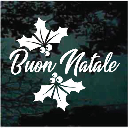 Buon Natale Window Decals