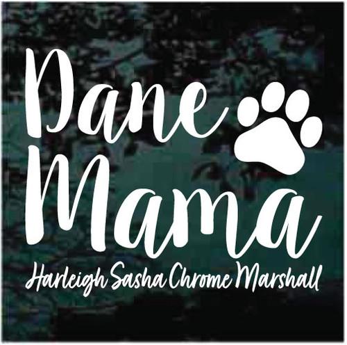 Custom Dane Mama Window Decals