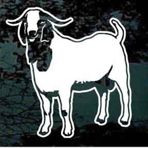 Boer Goat Standing Window Decals
