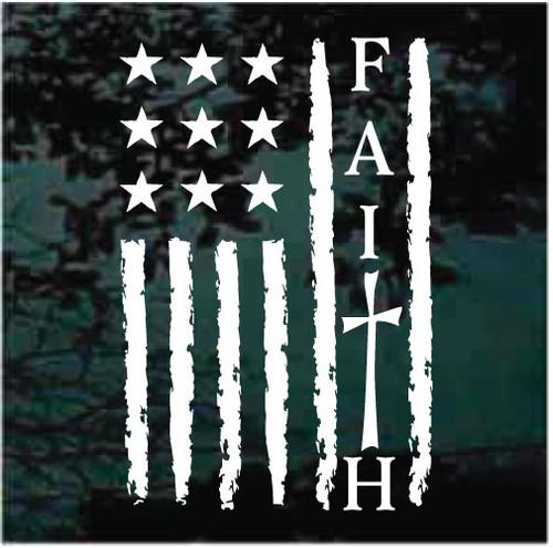 Faith American Flag Decals