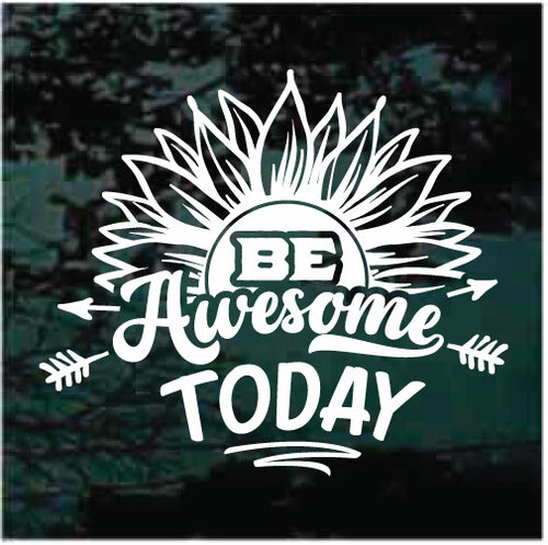 Be Awesome Sunflower Decals