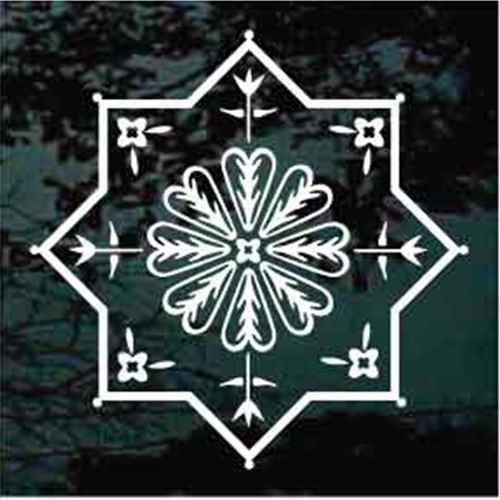 Folk Art Two Squares Floral