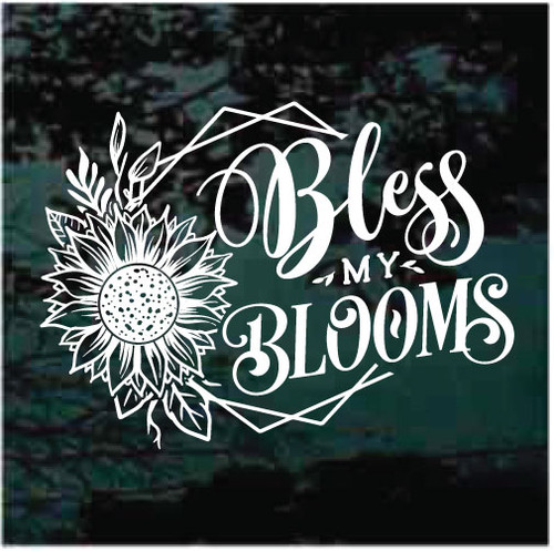 Bless My Blooms Sunflower Window Decals