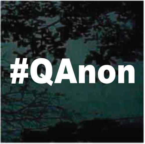 #QAnon Hashtag Decals