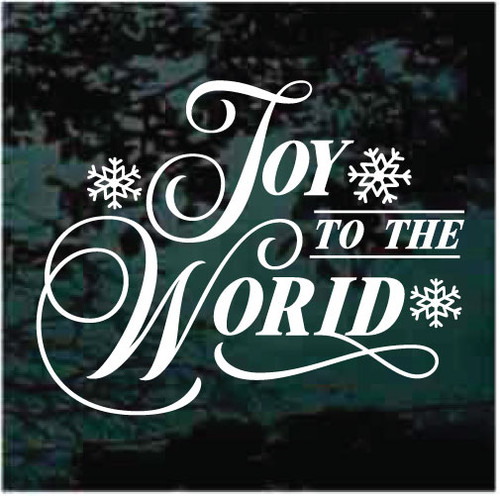 Joy To The World Snowflakes Christmas Decals