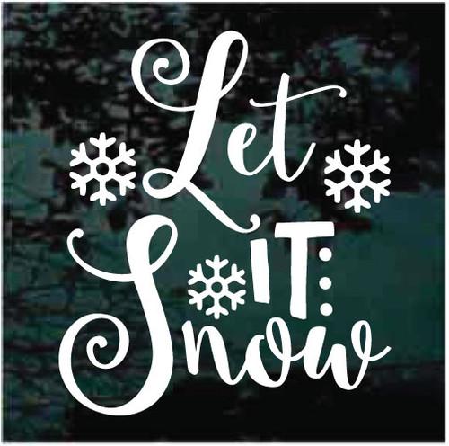 Let It Snow Snowflakes Decals