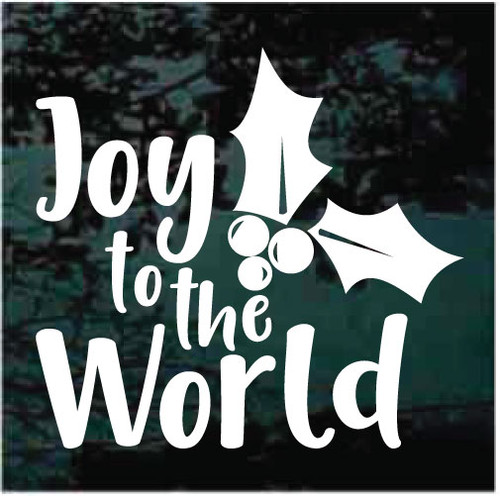 Joy To The World With Holly Decals