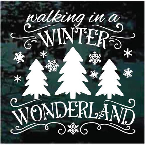 Walking In A Winter Wonderland Christmas Decals