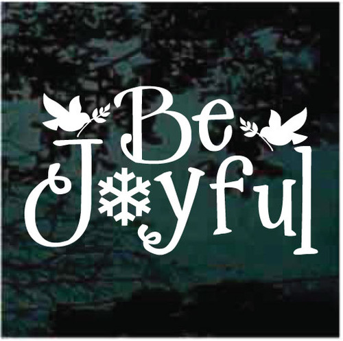 Be Joyful With Doves Christmas Decals