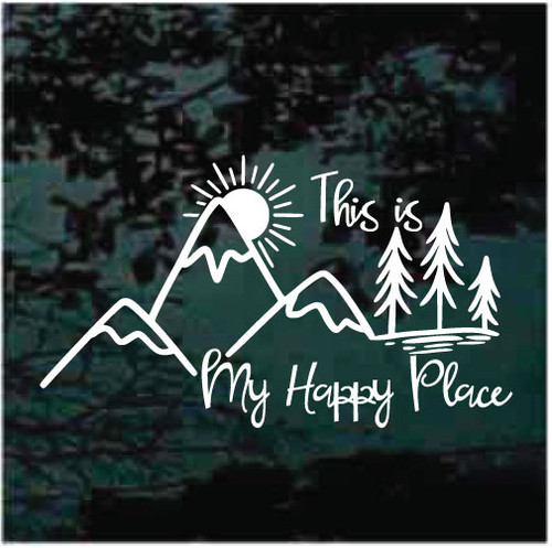 My Happy Place Mountain Scene Decals