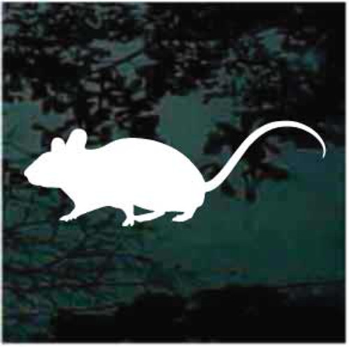 Cute Mouse Silhouette Window Decals