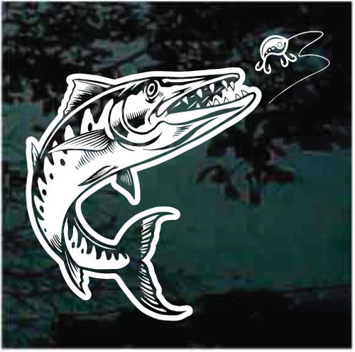 Barracuda Fish Chasing Lure Decals