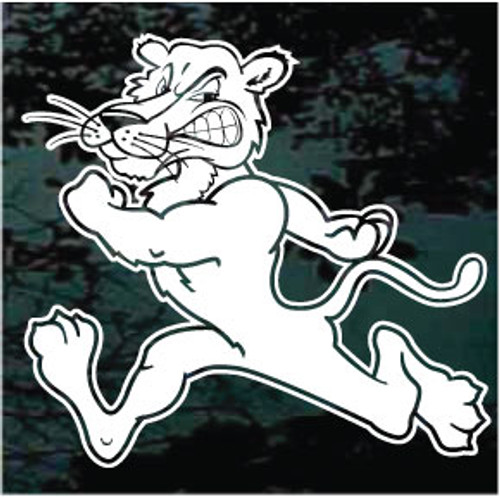 Running Panthers Mascot Decals