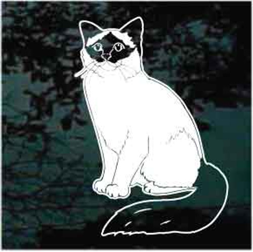 Birman Cat Window Decal
