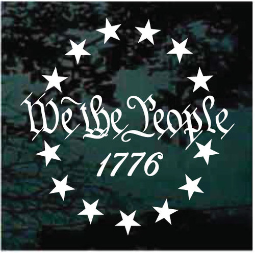 We The People 1776 Decals