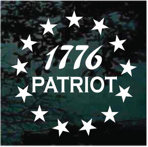 1776 Patriot Decals