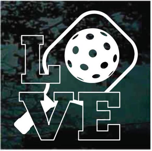 Love Pickleball Decals