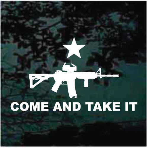Come & Take It Gun Decals