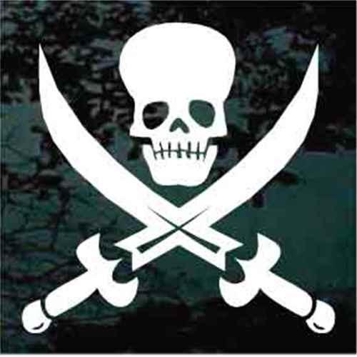 Jolly Roger Skull Decal