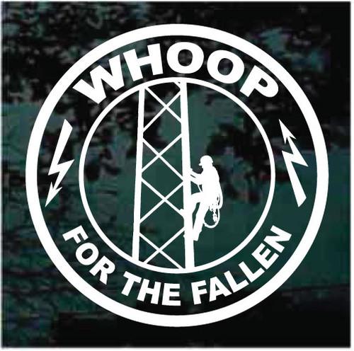 Whoop For The Fallen Lineman Decals