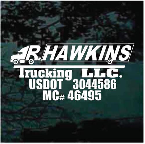 Hawkin's Trucking Custom Truck Decals