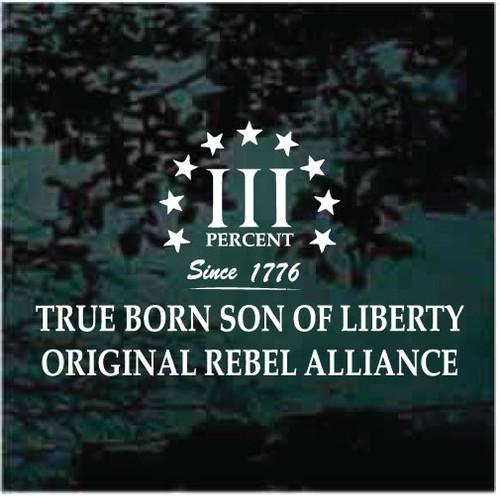 True Born Son Of Liberty Decals