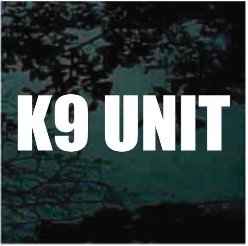 K9 UNIT Custom Decals