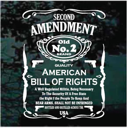 Second Amendment Custom Gun Cabinet Decals