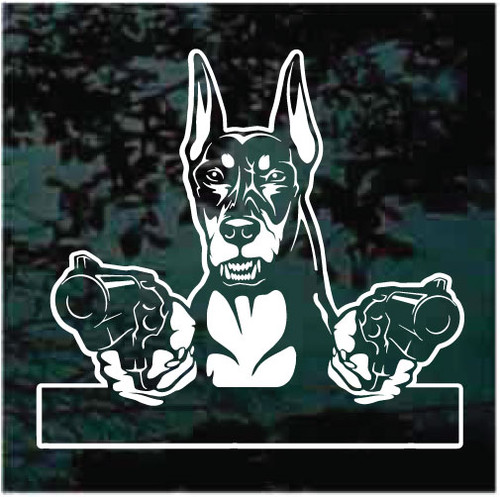 Outlaw Doberman Decals