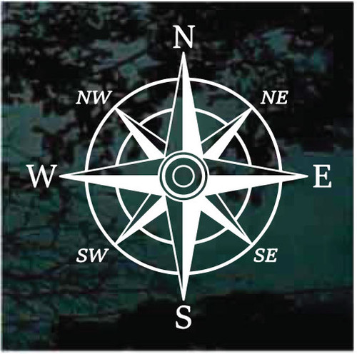 Wind Rose Directional Compass Decals