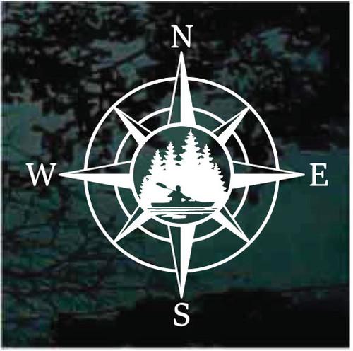 Canoe Wind Rose Compass Decals