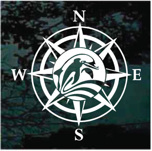 Dolphin Wind Rose Compass Decals