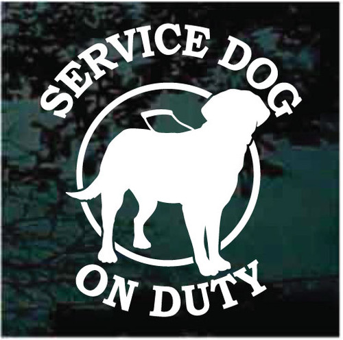 Labrador Retriever Service Dog On Duty Decals