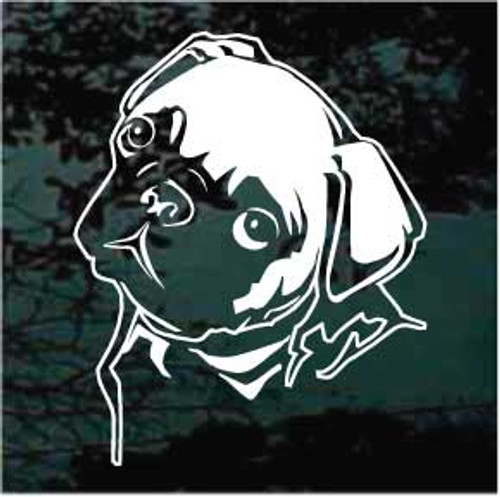 Cute Pug Face Decals