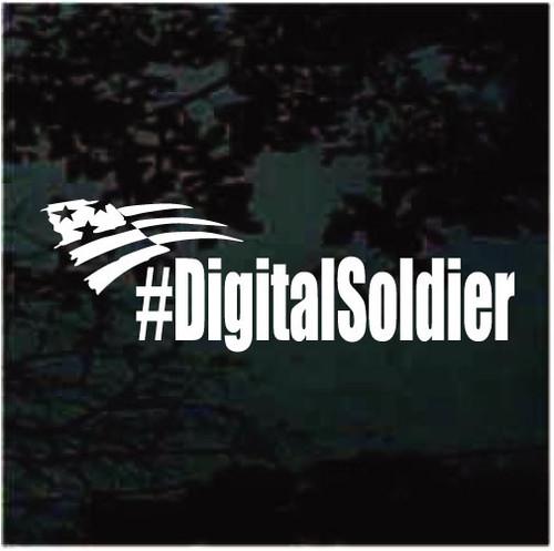 #DigitalSoldier Hashtag Decals