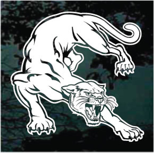 Hissing Panthers Mascot Window Decals