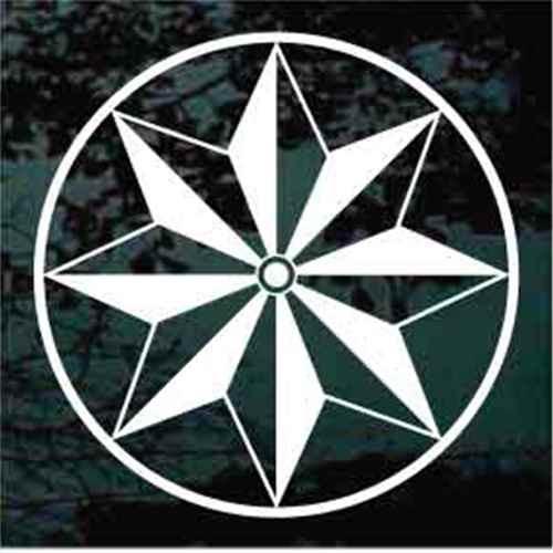 Geometric Folk Art Barn Circle