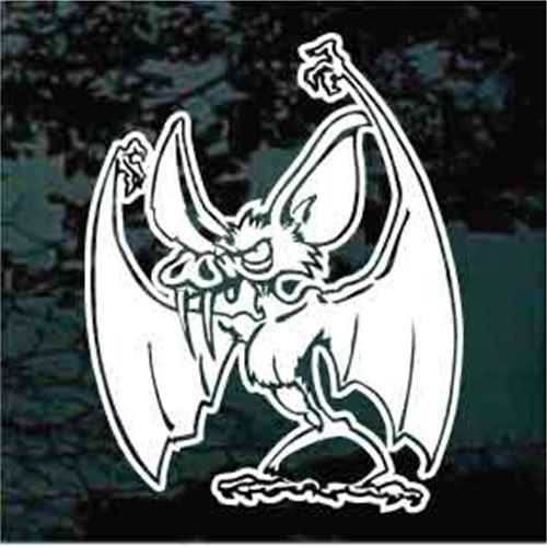 Bat With Fangs Decal