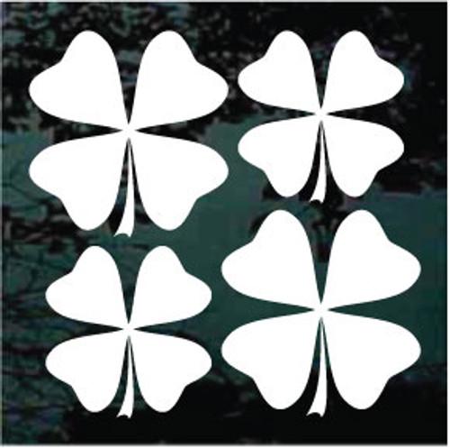 Four Leaf Clover 02 Set of 4 - 2 - 3'' + 2 - 2 1/2''