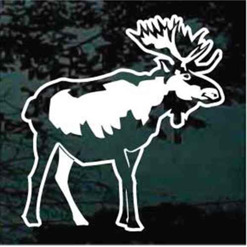 Beautiful Moose Window Decals