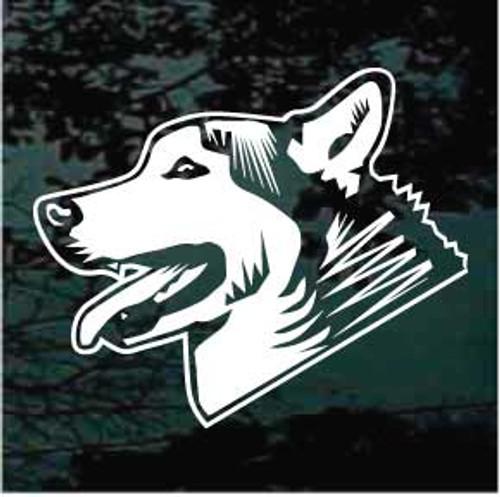 Siberian Husky Head Side View Window Decal