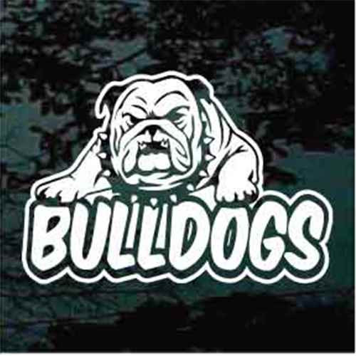 Bulldog Sports Team Mascot Window Decals