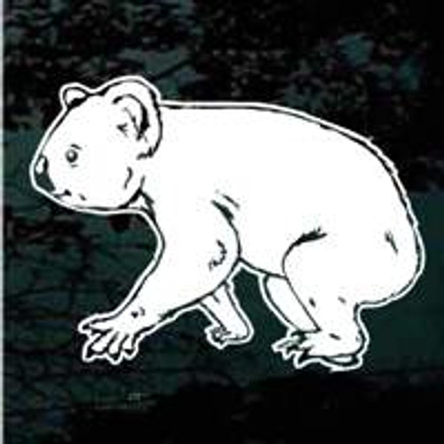Koala Bear Walking Window Decals