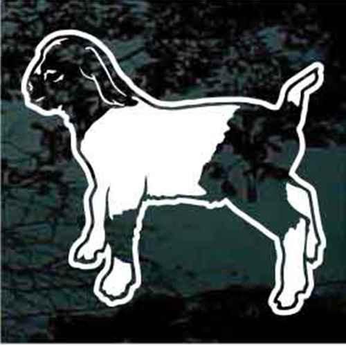 Boer Kid Goat Window Decals