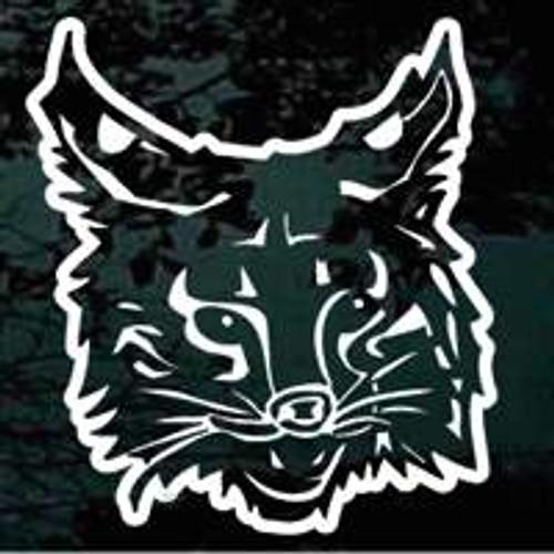 Wildcat Face Window Decals