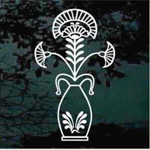 Folk Art Flower Vase