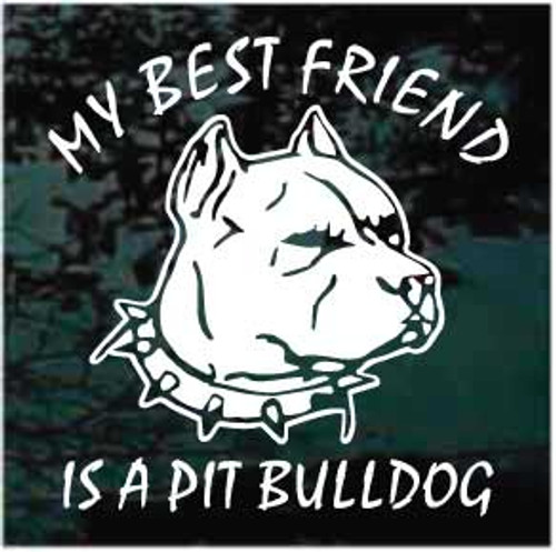 Pitbull Decals & Car Window Stickers Personalized | Decal Junky